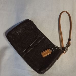 Coach pebble leather wristlet